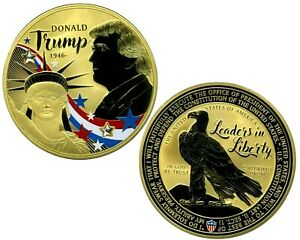 DONALD TRUMP LEADERS LIBERTY COLOSSAL COMMEMORATIVE COIN PROOF VALUE $139.95