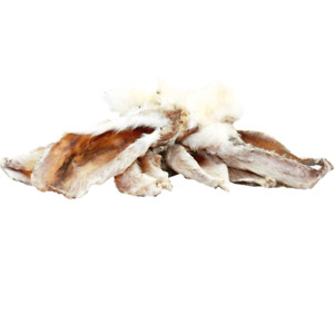 Rabbit Ears With Fur Gluten Free Healthy Natural  Dog Treats 5 Pack - 4PAWSRAW