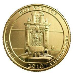 2010 HOT SPRINGS 24KT GOLD PLATED QUARTER (D)