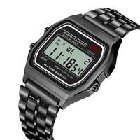 SYNOKE Men's Steel LED Digital Sport Watch Fashion Casual Alarm Wrist Watch Gift