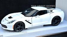 CHEVROLET CORVETTE STINGRAY 1:24 Scale Car Model Die Cast Cars Models White