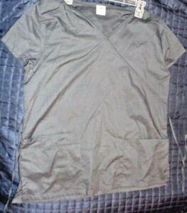 Women's Bobbie Brooks Scrub Top Charcoal Gray - Size 2XLarge - NWT