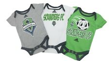 Seattle Sounders FC MLS Adidas Baby Infant Size 3 Creeper Bodysuit Combo Set New