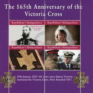 Madagascar Military Stamps 2021 CTO Queen Victoria Cross War Medals 4v M/S