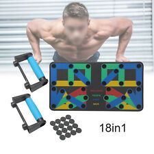 12/18 in 1 Push-up Board Stand Fitness Workout Gym Chest Muscle Train Exercise