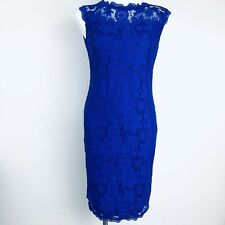 STANZINO Blue Lace Stretch Women Dress. Size Medium. New With Tags