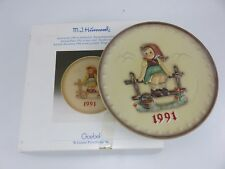 Hummel 1991 Annual Collector's Plate 21st In Series With Box Made In Germany