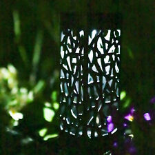 Solar Powered Decorative Black Lantern Stake Light Garden Patio Table Lamp