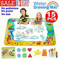 Large Children Magic Aqua Doodle Water Painting Drawing Mat Kids Board Toy + Pen