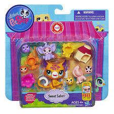 Jaguar Littlest Pet Shop Sweet Safari Set elephant, lion, zebra monkey friends