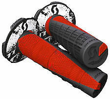 Scott MX Deuce 2 Grips+Donuts Waffle Grip Black/Red HONDA CRF 50/70/80/100