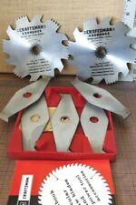 Vintage Craftsman Kromedge 6 Inch Dado Set #9-3249 Hole 5/8 & Molding Cutters