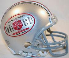 OHIO STATE BUCKEYES (2014 NATIONAL CHAMPIONS SCHEDULE) Riddell Mini VSR4 Helmet