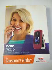Doro 7050 - DFC-0180 - Red Consumer Cellular Large Basic Phone