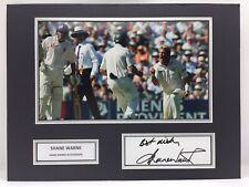RARE Shane Warne Australia Cricket Signed Photo Display + COA AUTOGRAPH ASHES