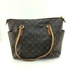 AUTH Louis Vuitton Monogram Canvas leather Totally MM Shoulder Bag