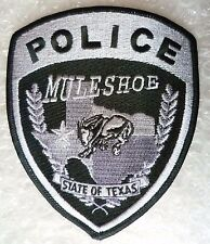 Patch- Muleshoe State of Texas US Police Patch (NEW, apx. 125x100 mm)