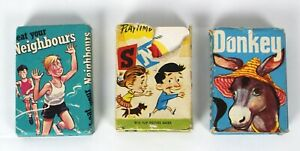 Vintage Card Games - Snap Donkey & Beat Your Neighbours 1960's Made In England