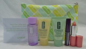 Clinique 6 Piece Set Remover Nude Pop Lip Cleanser DD+ Mascara