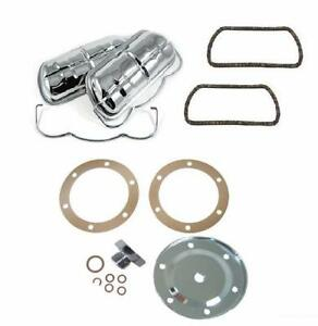 Chrome Valve Cover and Sump plate Kit fits all Type1 Engine Beetle,Karmann Ghia,