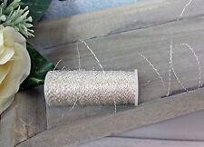 (0,10€/m) 35m Blumendraht  silber Dekodraht 0,30mm Floristendraht Bouillondraht