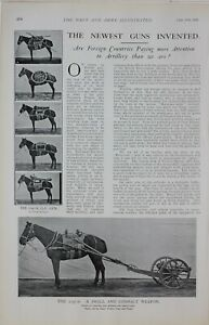 1901 PRINT ARTICLE NEW GUNS CARRIES BY MULES SMALL & COMPACT WEAPON