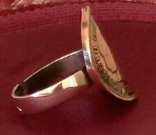 British Lucky One Penny  Coin Silver Ring