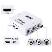 Mini Composite 24V HDMI to RCA AV CVBS Video Converter Adapter Box 1080p