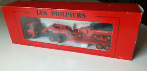 VEREM SET SAPEURS POMPIERS RENAULT R 390 + HALF-TRACK N° 914