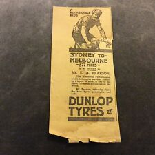 Advertisment - Dunlop Bicycle Tyres - Australia - 1910