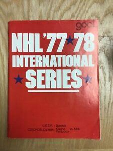 1977 Goal Magazine NHL 1977/78 International Series Program