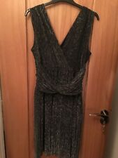 French Connection dark grey sparkly party dress. Size 14.
