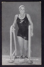 1948-49 Exhibits Sports Champions Anne Curtis World Swim Champion EX Plus