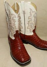 New Mens Crocodile Belly Cowboy Boots size 11.5 Botas de lagarto Belly original