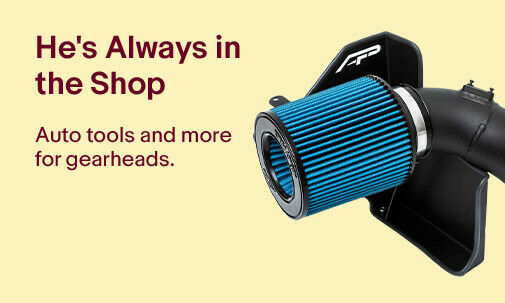 He's Always in the Shop | Auto tools and more for gearheads.