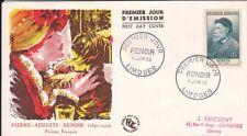 FRANCE PREMIER JOUR - Auguste RENOIR 1955 LIMOGES - FDC#40