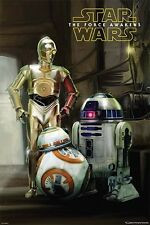 Star Wars VII The Force Awakens - Droids BB-8 POSTER 61x91cm NEW * C-3PO R2-D2