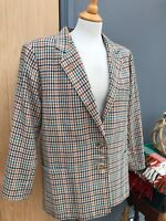 Ladies DAKS LONDON Check PURE WOOL Jacket Women's UK Size 14/16 40/42'