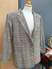Ladies DAKS LONDON Check PURE WOOL Jacket Women's UK Size 14/16 40/42'