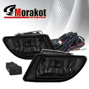 Honda Odyssey 03-04 OEM Front Bumper Fog Light Smoke Plastic Lens+Switch+Wiring