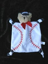 Bearington Collection Basebal Bear Mini Lovey Security Blanket