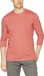 Under Armour Men's Rapture Red UA Siro 3/4 Sleeve Crew-Neck Fitted T-Shirt