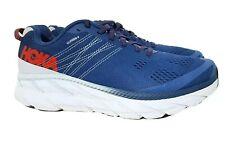 HOKA ONE ONE CLIFTON 6 Men's Blue White Running Shoes Trainers Size UK 9 EU 43⅓