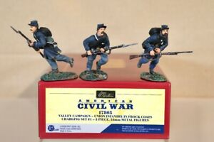 BRITAINS 17805 AMERICAN CIVIL WAR VALLEY CAMPAIGN UNION INFANTRY CHARGING SET nv