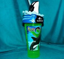 2011-2017 SeaWorld One Ocean Shamu Blackfish Tail Travel Beverage Souvenir Cup