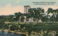 Antique Postcard c1907-20 Store House Rock Island Arsenal Il 18707