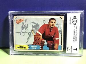 1968-69 O-Pee-Chee OPC #34 Terry Sawchuk Detroit Red Wings BCCG 7