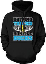 Driving Trucks & Hunting Bucks Hunter Country Rural Antlers Hoodie Pullover