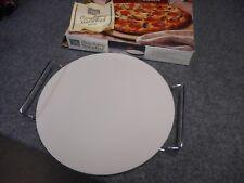 "NIB ITALIAN VILLA PIZZA BAKING STONE & RACK 12.5"" STONEWARE"