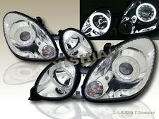 Fit For 1998-2005 Lexus GS 300/400/430 Chrome Projector Headlights 2 Halo CCFL